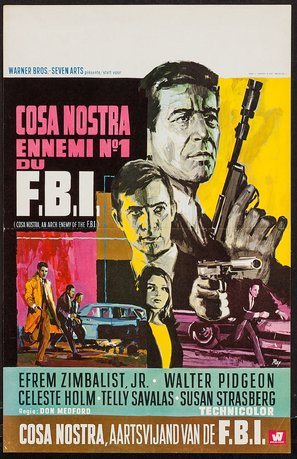 Cosa Nostra, Arch Enemy of the FBI - Belgian Movie Poster (thumbnail)