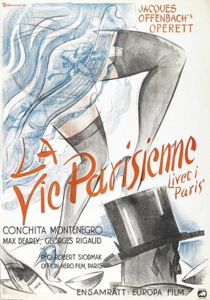 La vie parisienne - Swedish Movie Poster (thumbnail)