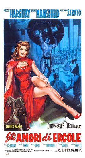 Gli amori di Ercole - Italian Movie Poster (thumbnail)