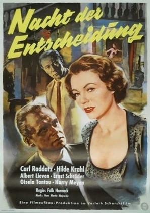 Nacht der Entscheidung - German Movie Poster (thumbnail)