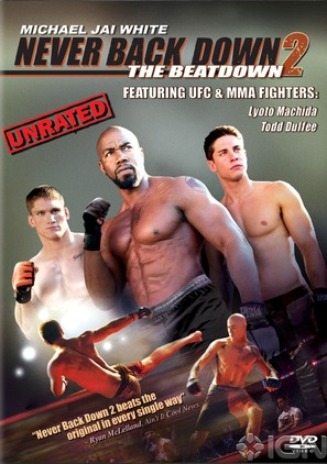 """Never Back Down 2"" - DVD cover (thumbnail)"