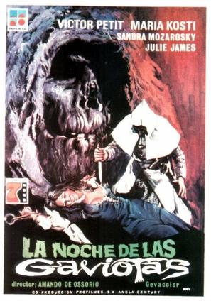 La noche de las gaviotas - Spanish Movie Poster (thumbnail)