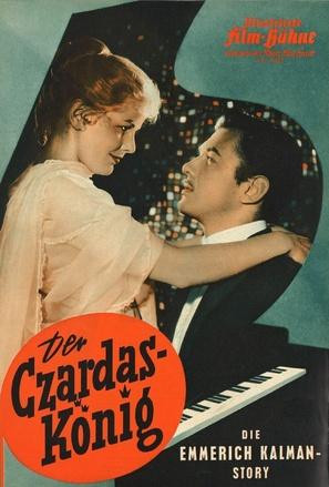 Der Czardas-König - German poster (thumbnail)