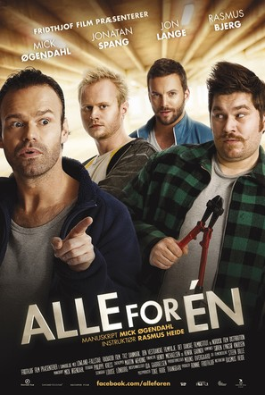 Alle for én - Danish Movie Poster (thumbnail)