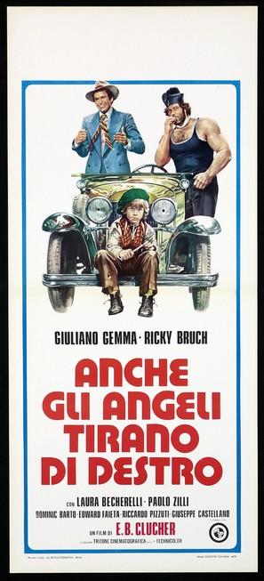 Anche gli angeli tirano di destro - Italian Movie Poster (thumbnail)