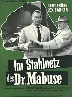 Im Stahlnetz des Dr. Mabuse - German Movie Poster (thumbnail)