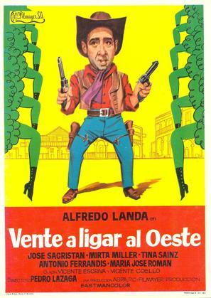 Vente a ligar al Oeste - Spanish Movie Poster (thumbnail)
