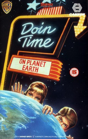 Doin' Time on Planet Earth - British VHS movie cover (thumbnail)