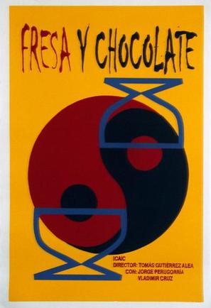 Fresa y chocolate - Cuban Movie Poster (thumbnail)