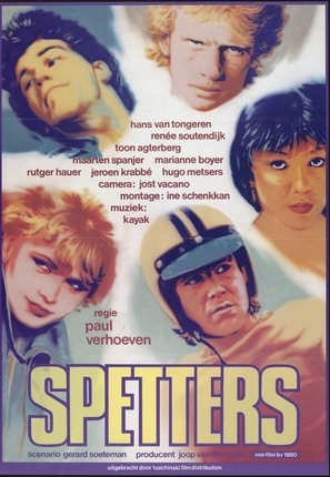 Spetters - Dutch Movie Poster (thumbnail)