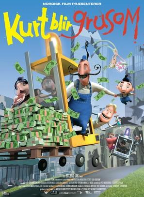 Kurt blir grusom - Danish Movie Poster (thumbnail)