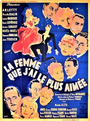 La femme que j'ai le plus aimée - French Movie Poster (thumbnail)