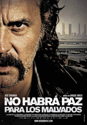No habrá paz para los malvados - Spanish Movie Poster (thumbnail)