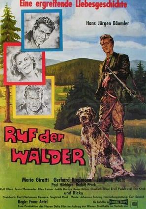 Ruf der Wälder - German Movie Poster (thumbnail)