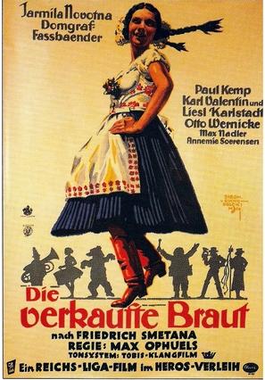 Verkaufte Braut, Die - German Movie Poster (thumbnail)