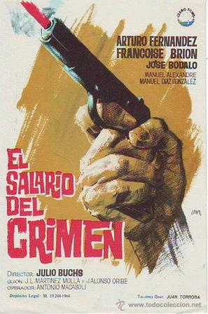 El salario del crimen - Spanish Movie Poster (thumbnail)