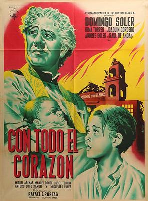 Con todo el corazón - Mexican Movie Poster (thumbnail)