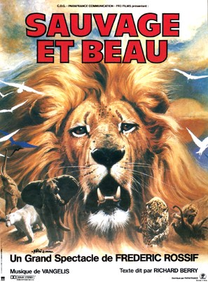 Sauvage et beau - French Movie Poster (thumbnail)