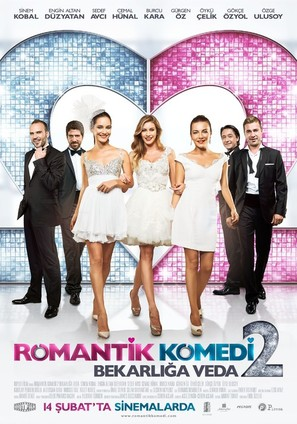 Romantik komedi 2: Bekarliga veda - Turkish Movie Poster (thumbnail)