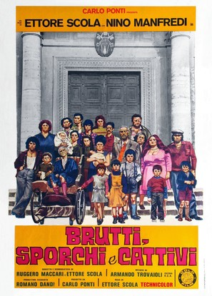 Brutti sporchi e cattivi - Italian Movie Poster (thumbnail)