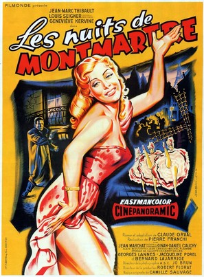 Les nuits de Montmartre - French Movie Poster (thumbnail)