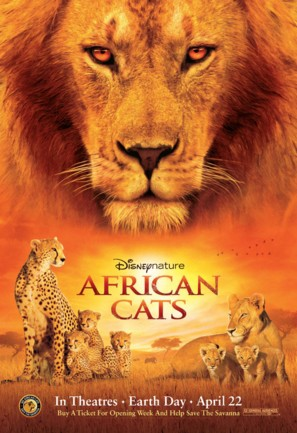African Cats - Movie Poster (thumbnail)