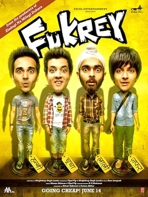 Fukrey - Indian Movie Poster (thumbnail)