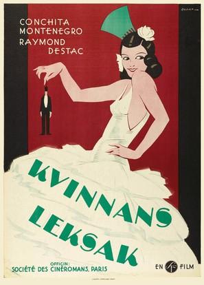 La femme et le pantin - Swedish Movie Poster (thumbnail)