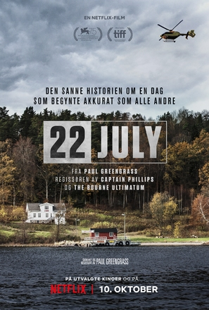 22 July - Norwegian Movie Poster (thumbnail)