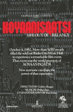 Koyaanisqatsi - Theatrical poster (thumbnail)