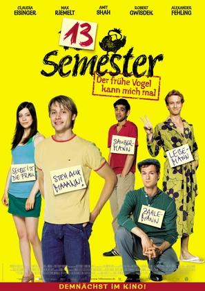 13 Semester - German Movie Poster (thumbnail)
