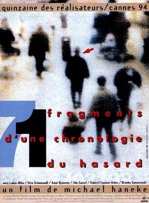 71 Fragmente einer Chronologie des Zufalls - French poster (thumbnail)