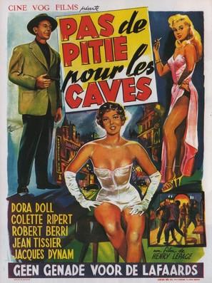 Pas de pitié pour les caves - Belgian Movie Poster (thumbnail)
