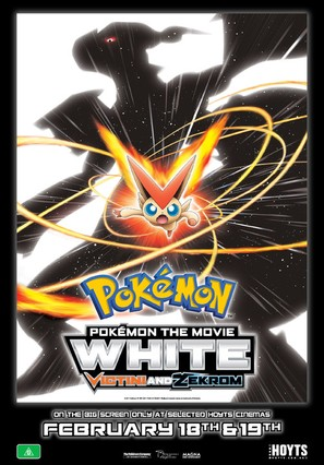 Pokemon the Movie: White - Victini and Zekrom - Australian Movie Poster (thumbnail)