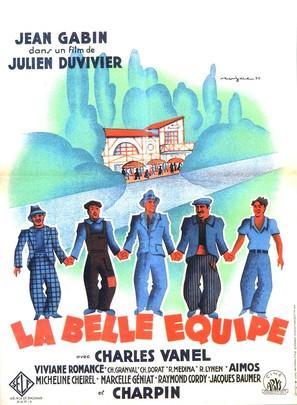 La belle équipe - French Movie Poster (thumbnail)