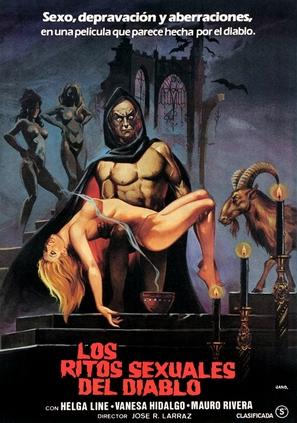 Los ritos sexuales del diablo - Spanish Movie Poster (thumbnail)