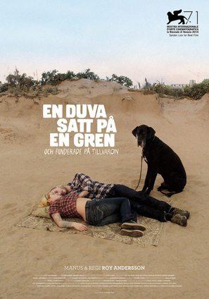 En duva satt på en gren och funderade på tillvaron - Swedish Movie Poster (thumbnail)