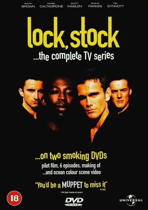 """Lock, Stock..."" - British DVD movie cover (thumbnail)"