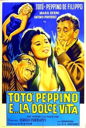 Totò, Peppino e la dolce vita - Argentinian Movie Poster (thumbnail)