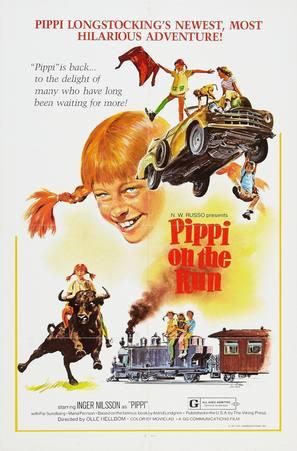 På rymmen med Pippi Långstrump - Movie Poster (thumbnail)