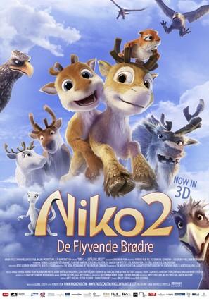 Niko 2: Lentäjäveljekset - Danish Movie Poster (thumbnail)