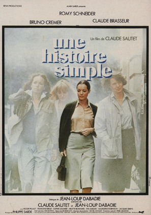 Une histoire simple - French Movie Poster (thumbnail)