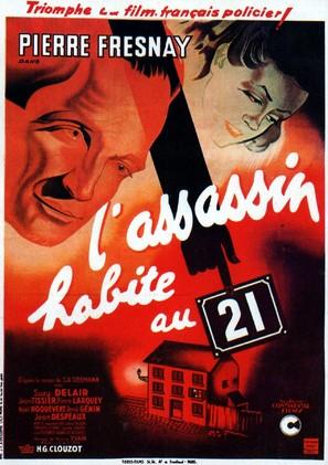L'assassin habite... au 21 - French Movie Poster (thumbnail)