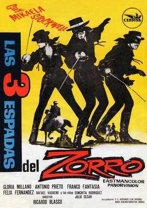 Le tre spade di Zorro - Spanish Movie Poster (thumbnail)