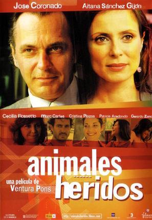 Animals ferits - Spanish Movie Poster (thumbnail)