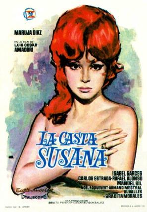 La casta Susana - Spanish Movie Poster (thumbnail)