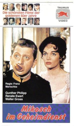 Mikosch im Geheimdienst - German VHS movie cover (thumbnail)