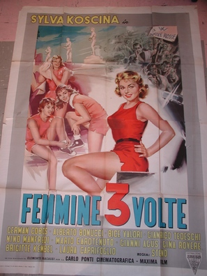 Femmine tre volte - Italian Movie Poster (thumbnail)