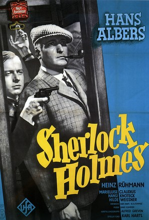 Der Mann, der Sherlock Holmes war - German Movie Poster (thumbnail)