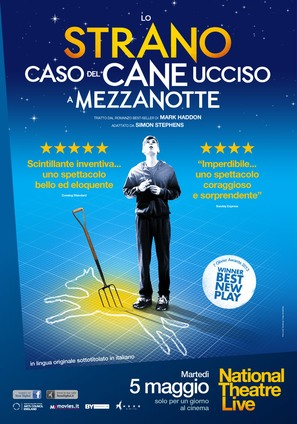 National Theatre Live: The Curious Incident of the Dog in the Night-Time - Italian Movie Poster (thumbnail)